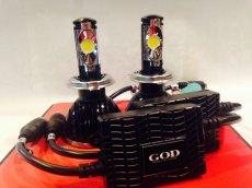 画像1: GOD スーパーLEDヘッドライトキット H7 HI/LO2灯 ホワイト 2400LM  (1)