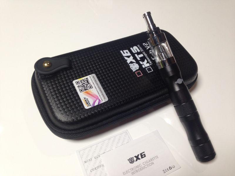 画像1: ブラック 電子タバコスターターキット VAPE X6 本体 充電器 ケース セット 正規品 本物  (1)