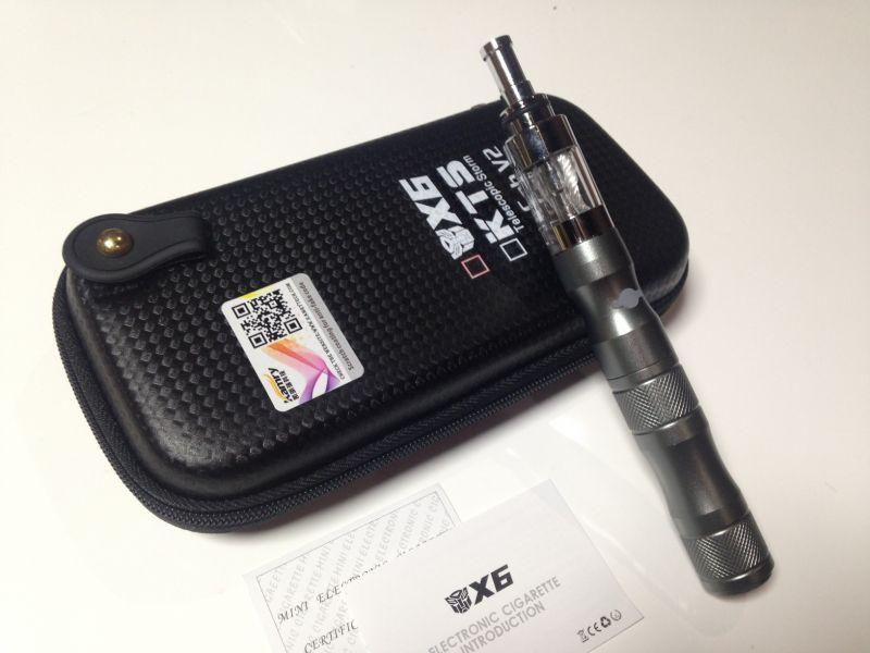 画像1: グレー kamry VAPE X6 本体 充電器 ケース セット 正規品 電子タバコスターターキット (1)