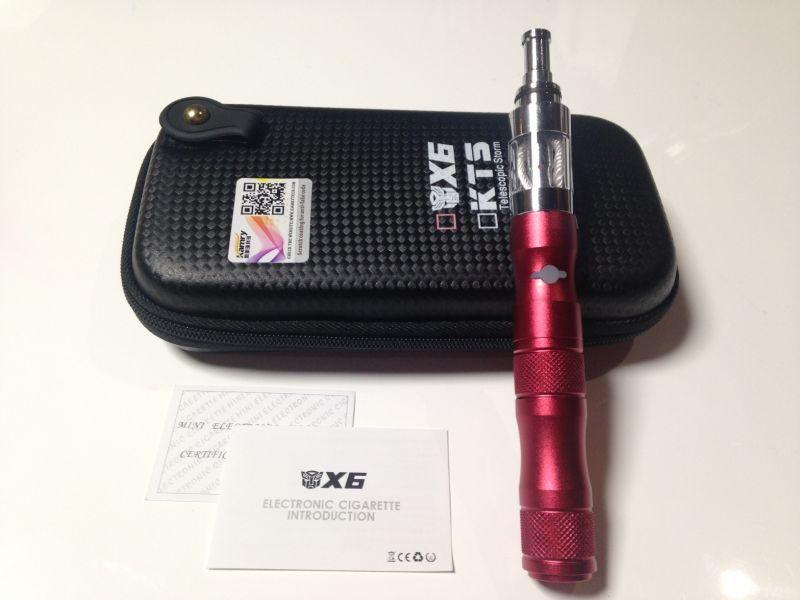 画像1: レッド kamry VAPE X6 本体 充電器 ケース セット 正規品 電子タバコスターターキット (1)