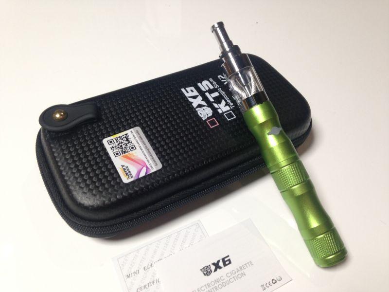 画像1: グリーン kamry VAPE X6 本体 充電器 ケース セット 正規品 電子タバコスターターキット (1)