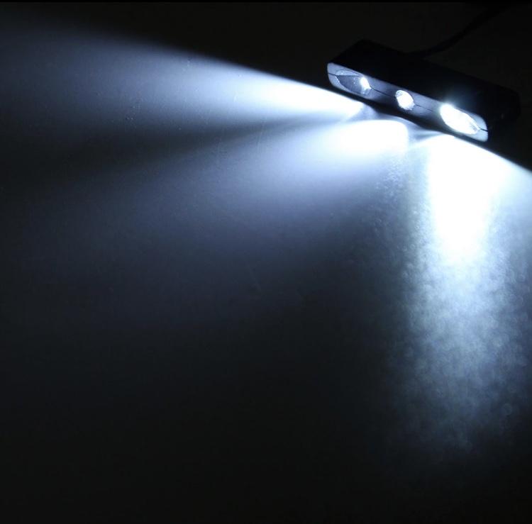 画像1: GOD 12v 汎用 3LED ナンバー灯 ホワイト (1)
